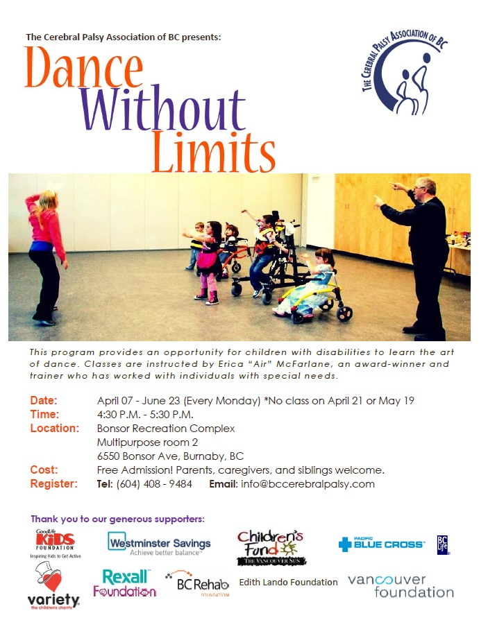 Dance without limits for children with disabilities