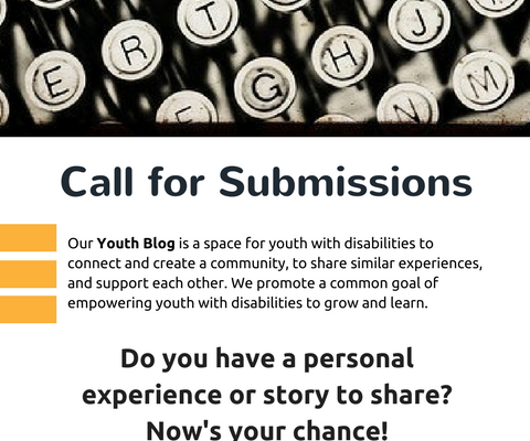 Calling for more Youth Blog submissions!