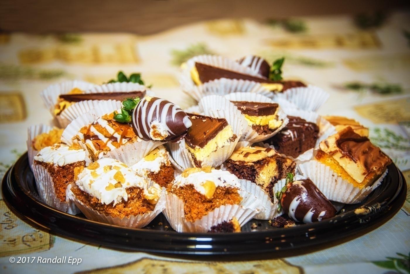 Closeup of dessert