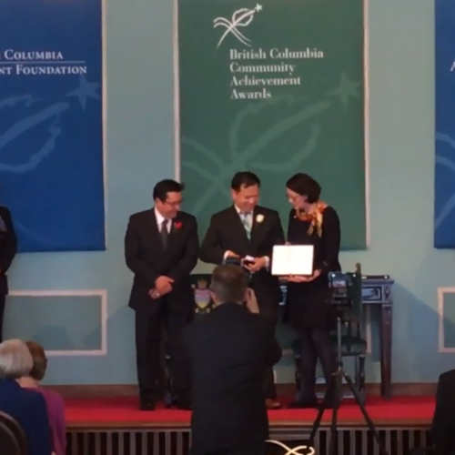 Past President Andy Yu receives BC Community Achievement Award