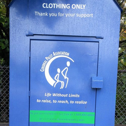 It's not the clothing bins, it's the social safety net