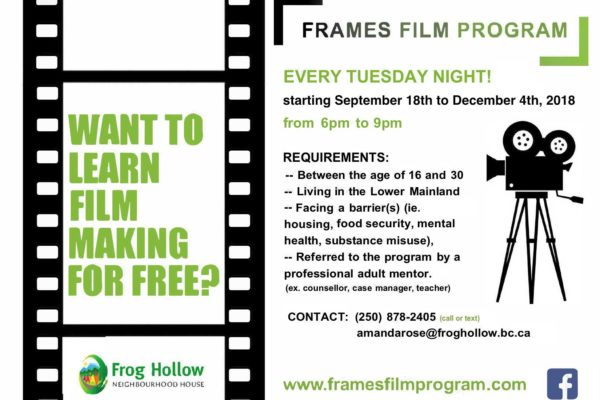 Calling All Youths for the Frame Film Program Cycle 19th!