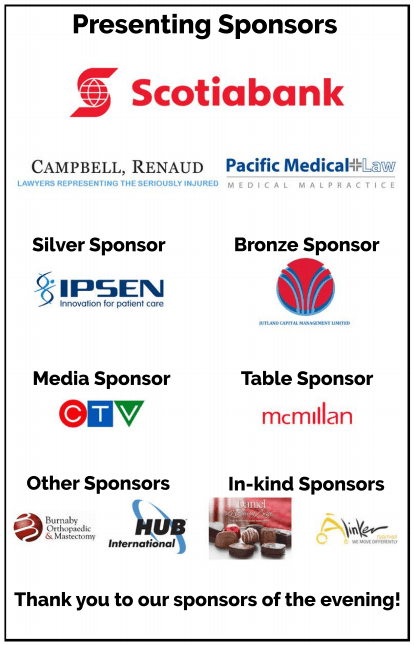 Presenting sponsors at the Life without Limits Gala 2017