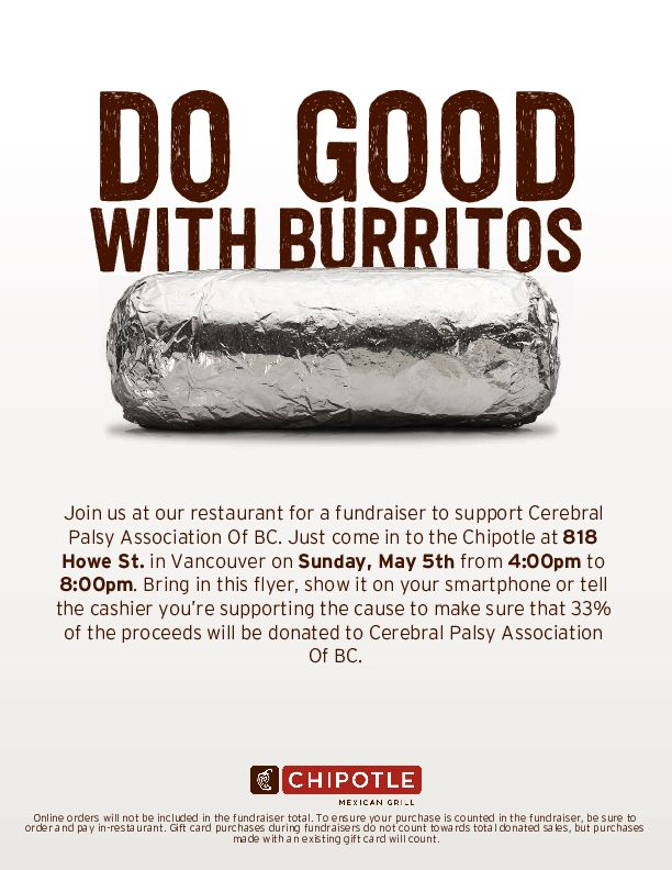 Cinco de Mayo. Join us at Chipotle. Do Good With Burritos.
